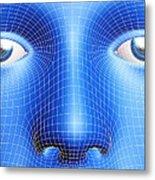 Face Biometrics Metal Print by Pasieka