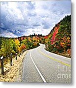 Fall Highway Metal Print