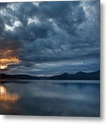 Fall Sunset Over Lake Pend Oreille Metal Print