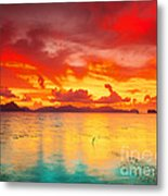 Fantasy Sunset Metal Print