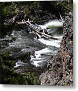 Fast Moving Firehole River Metal Print