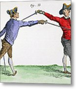 Fencing, 18th Century Metal Print