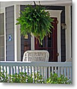 Fern On Front Porch Metal Print