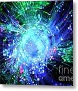Fiber Optic Swirl Metal Print