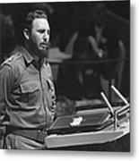 Fidel Castro (1926-) Metal Print