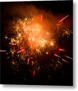 Firework Display At New Year's Eve Metal Print