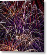Fireworks Metal Print by Garry Gay