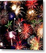 Fireworks Medley Metal Print