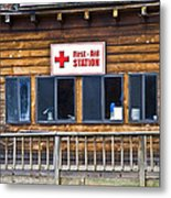 First Aid Station Metal Print