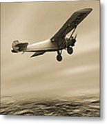 First Solo Transatlantic Flight, 1927 Metal Print