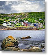 Fishing Village In Newfoundland Metal Print by Elena Elisseeva