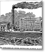 Fitchs Steamboat, C1790 Metal Print