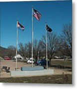Flags With Blue Sky Metal Print