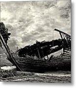 Fleetwood Marsh Wrecks Metal Print