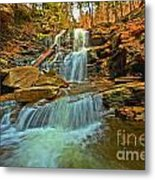 Flowing Down The Mountain Metal Print