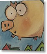 Flying Pig First Flight Metal Print