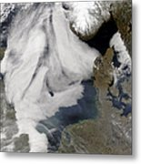 Fog In The North Sea Metal Print