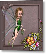 Forest Fairy In The Garden Metal Print