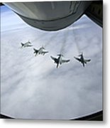 Formation Of Luftwaffe F-4f Phantom IIs Metal Print