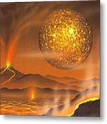 Formation Of The Moon, Artwork Metal Print