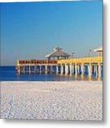 Fort Myers Beach Pier Metal Print
