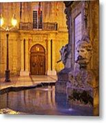 Fountain Aix-en-provence Metal Print