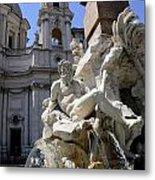 Fountain. Piazza Navona. Rome Metal Print
