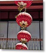 Four Lanterns Metal Print