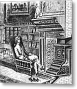 Franklin Stove Metal Print