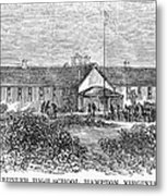 Freedmens School, 1868 Metal Print