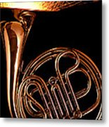French Horn With Sparks Metal Print