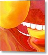 Fresh Peaches Taste Like Sunshine Metal Print