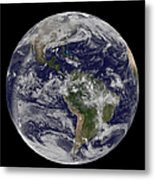 Full Earth Showing North America Metal Print