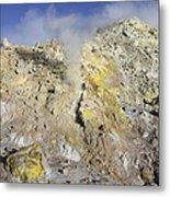 Fumaroles With Sulphur Deposits. Flank Metal Print
