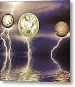 Galactic Storm Metal Print by Sharon Lisa Clarke