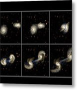 Galaxy Collision Model Metal Print