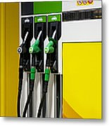 Gas Pumps At A Station Metal Print by Jaak Nilson