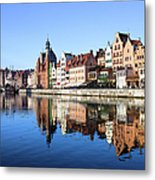 Gdansk Old Town And Motlawa River Metal Print