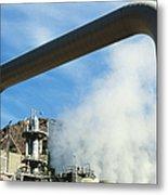 Geothermal Power Plant Metal Print by Science Source