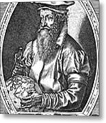 Gerardus Mercator, Flemish Cartographer Metal Print