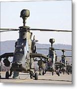 German Tiger Eurocopters At Fritzlar Metal Print