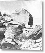 Giant Sandstone Boulders Metal Print