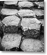 Giants Causeway Stones Northern Ireland Metal Print