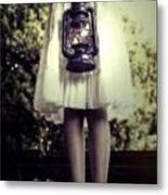 Girl With Oil Lamp Metal Print by Joana Kruse