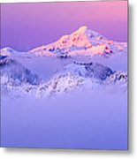 Glacier Peak Alpenglow - Purple Metal Print