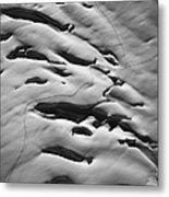 Glacier Tracks Metal Print