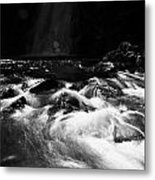 Gleno Or Glenoe Waterfall County Antrim Northern Ireland Metal Print by Joe Fox