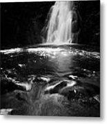Gleno Or Glenoe Waterfall County Antrim Northern Ireland Uk Metal Print
