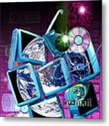 Global Communication Metal Print