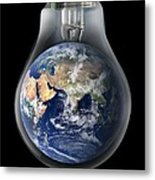 Global Warming, Conceptual Image Metal Print by Victor De Schwanberg